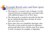 example retail sales and floor space20