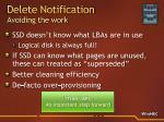 delete notification avoiding the work
