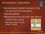 intra plane copy back