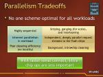 parallelism tradeoffs