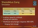 shared bus gang simulation