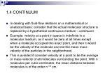 1 4 continuum