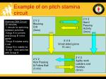 example of on pitch stamina circuit
