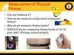 measurement of physical fitness