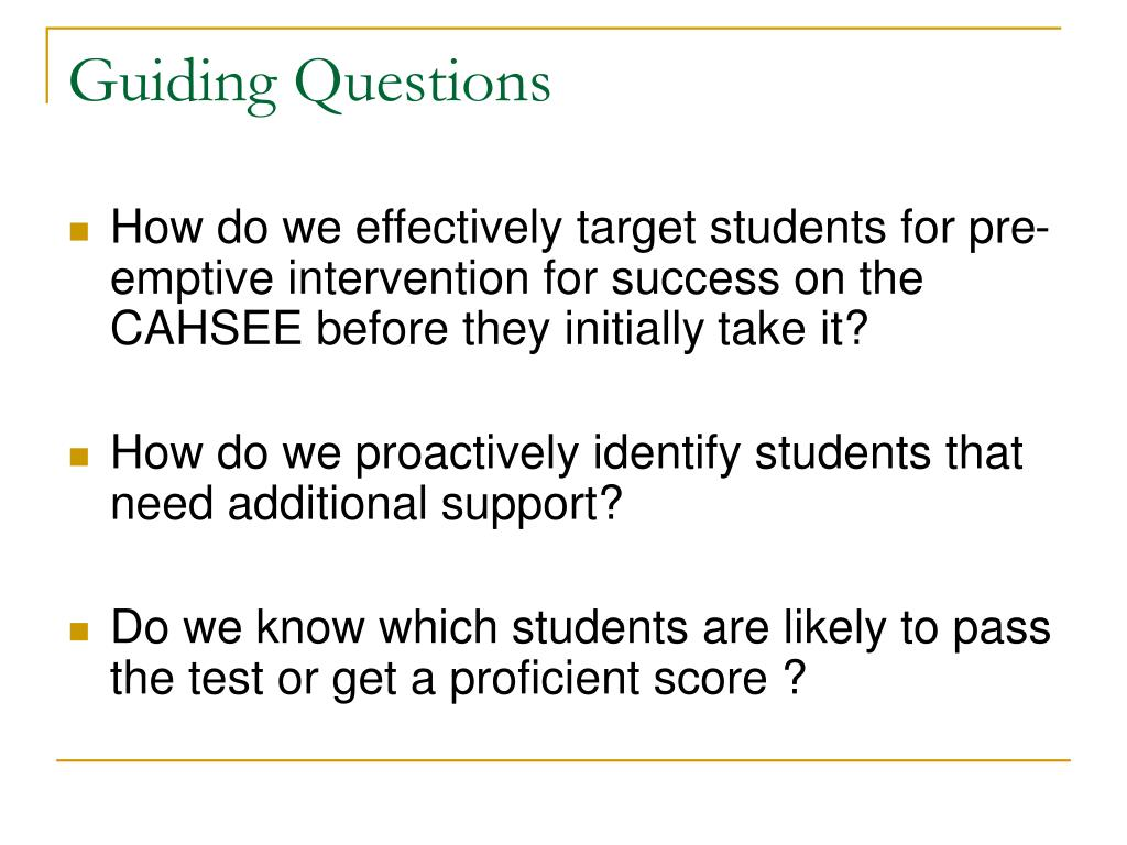 Guiding Questions