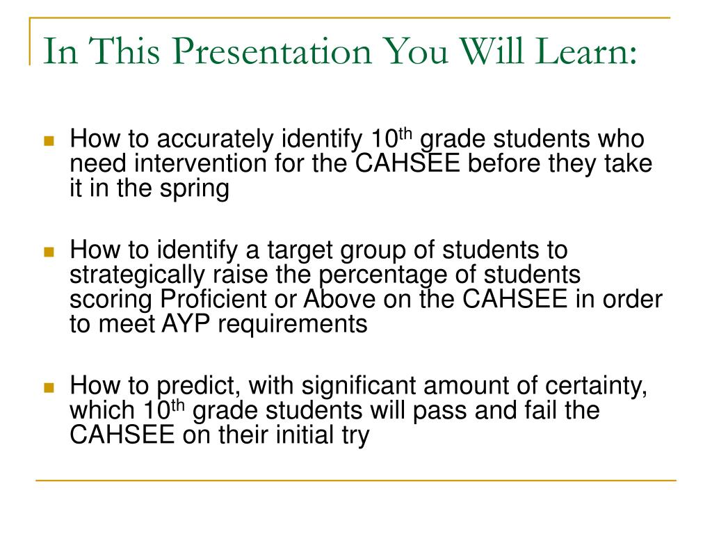 In This Presentation You Will Learn: