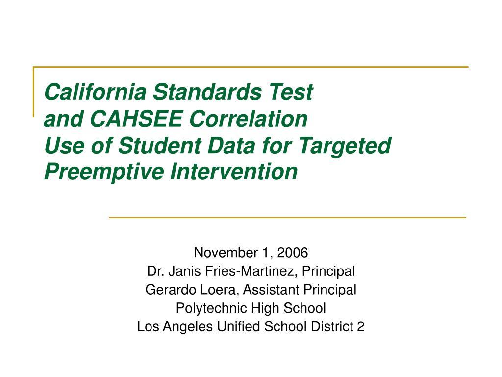 California Standards Test