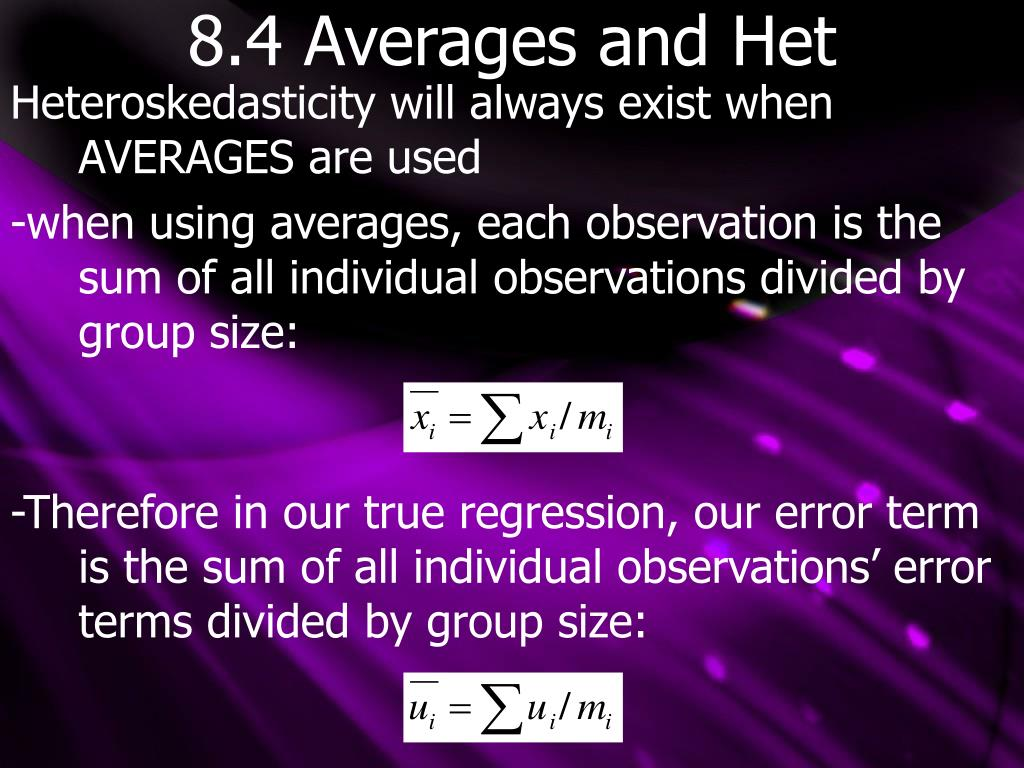 8.4 Averages and Het