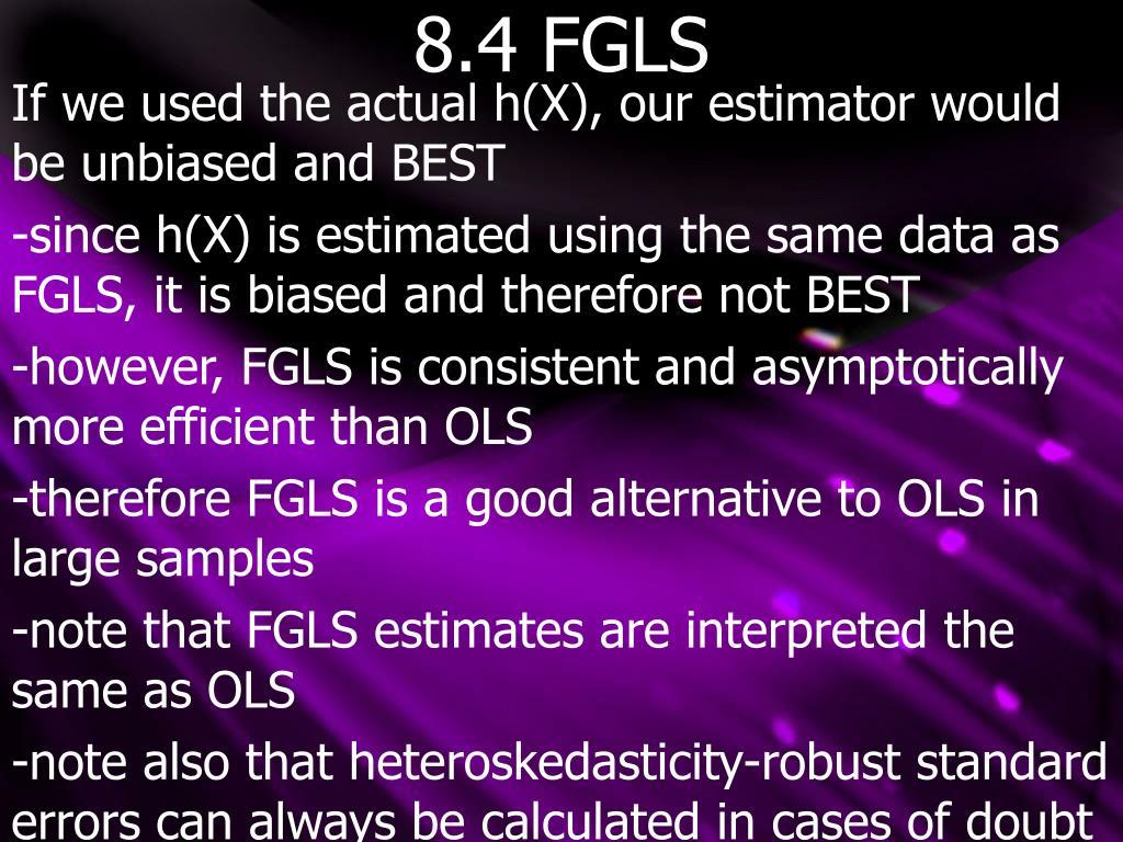 8.4 FGLS