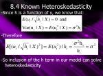 8 4 known heteroskedasticity4