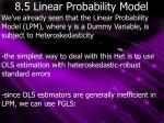 8 5 linear probability model