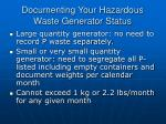 documenting your hazardous waste generator status