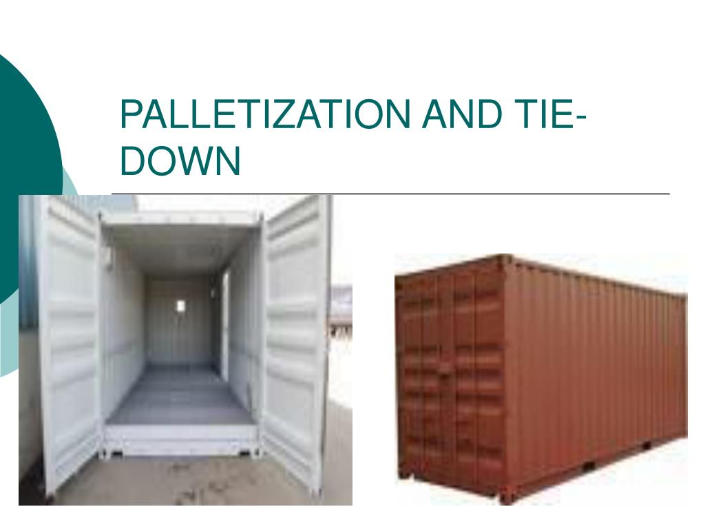 palletization and tie down l.