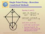 single point fixing resection analytical method4