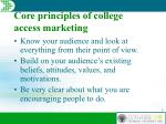 core principles of college access marketing
