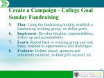 create a campaign college goal sunday fundraising28