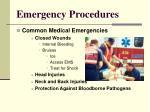 emergency procedures13