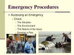 emergency procedures5