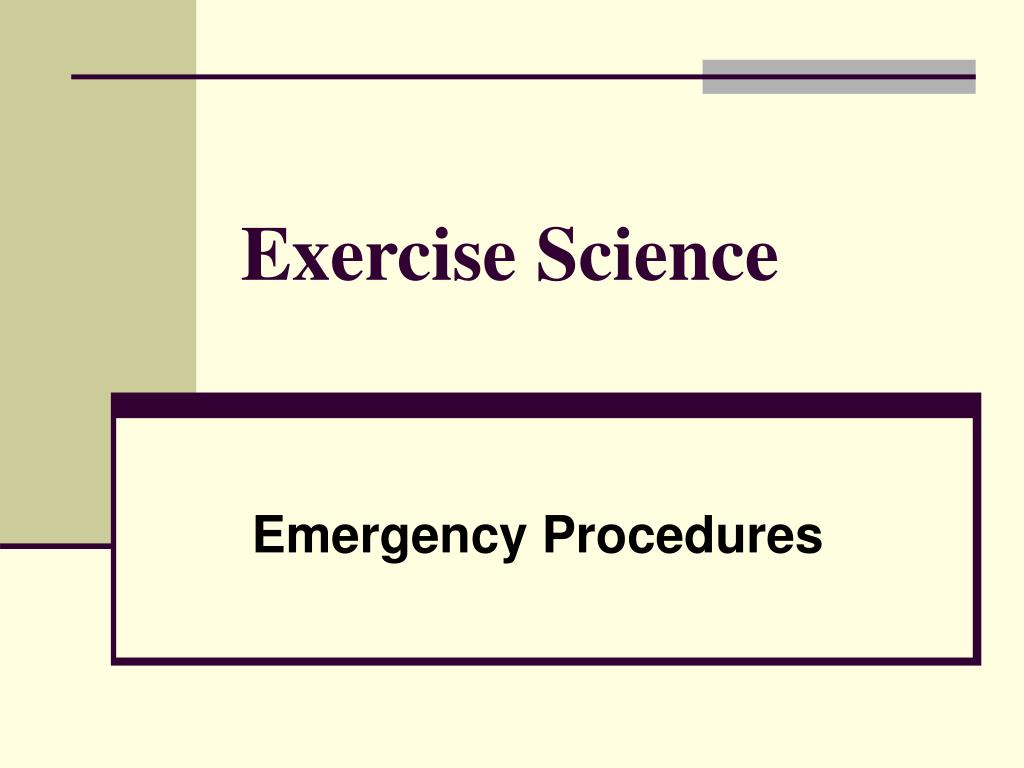 exercise science l.