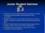 junior student seminar