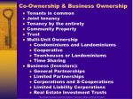 co ownership business ownership
