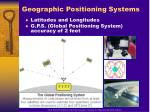 geographic positioning systems