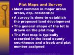 plat maps and survey