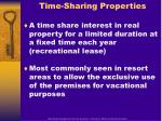 time sharing properties