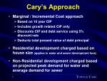 cary s approach