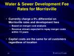 water sewer development fee rates for morrisville