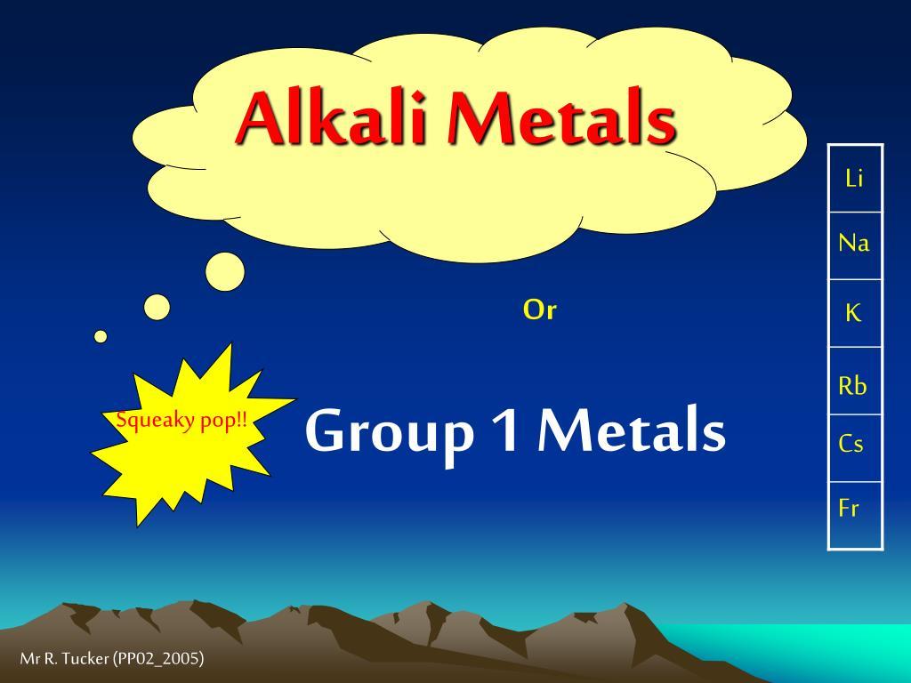 alkali metals l.