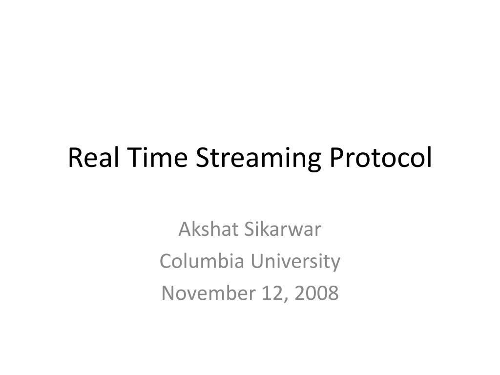 real time streaming protocol l.