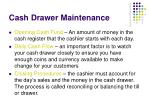 cash drawer maintenance