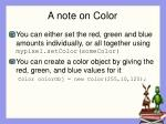 a note on color