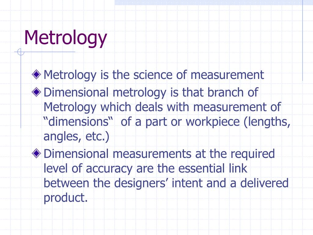 metrology l.
