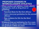 proposed changes in intercollegiate athletics