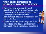 proposed changes in intercollegiate athletics32