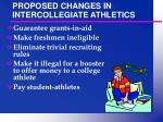 proposed changes in intercollegiate athletics34