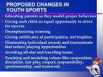 proposed changes in youth sports23