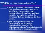 title ix how informed are you12