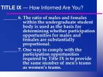 title ix how informed are you13