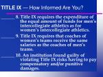 title ix how informed are you14
