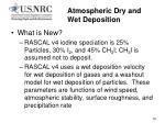 atmospheric dry and wet deposition