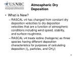 atmospheric dry deposition