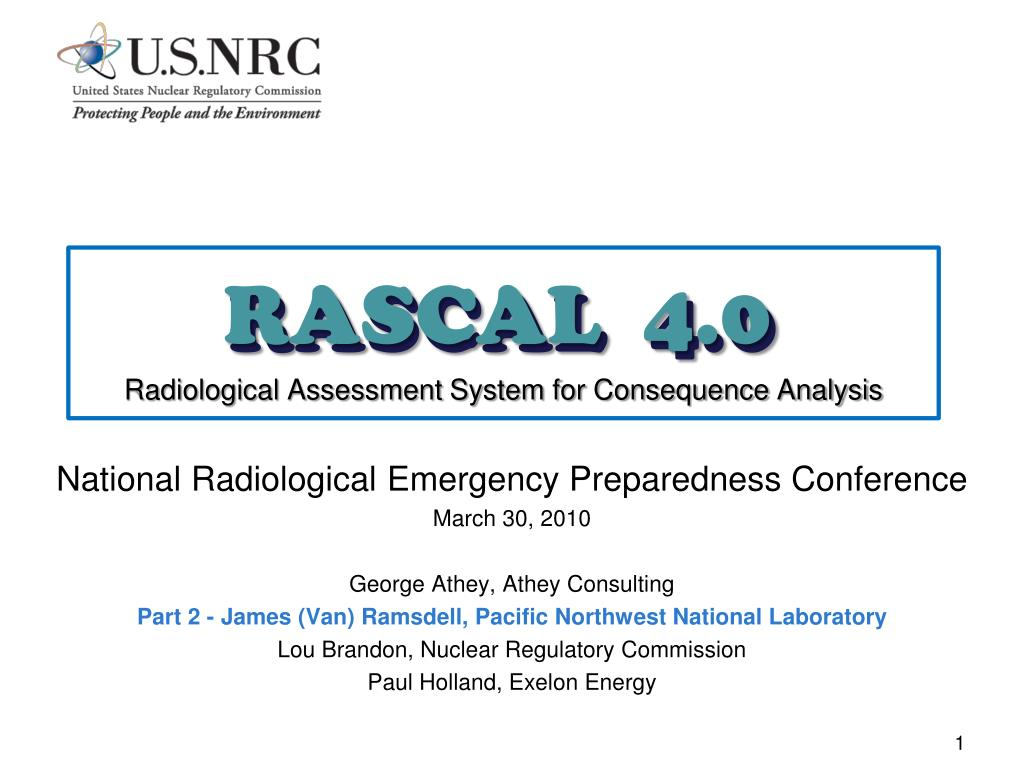 rascal 4 0 radiological assessment system for consequence analysis l.