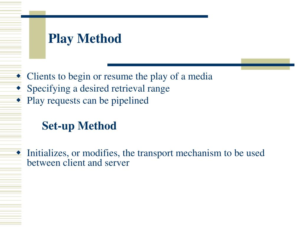 Play Method