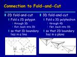 connection to fold and cut