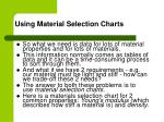 using material selection charts