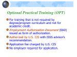 optional practical training opt