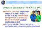 practical training f 1 c pt opt